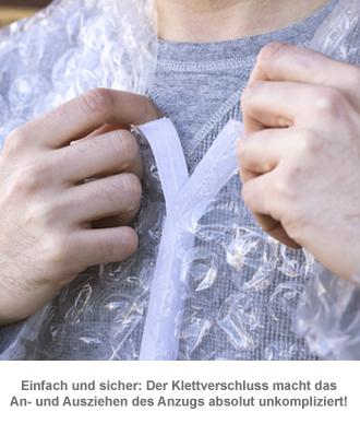 Luftpolsterfolie Anzug - Faschingskostüm - 2