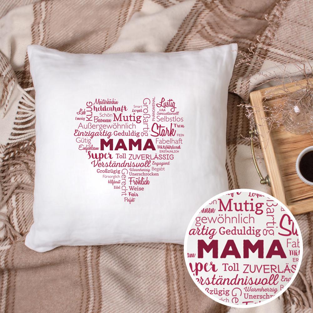 Personalisiertes Kissen Bedrucken Für Mama Herz Aus Worten