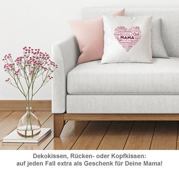 Personalisiertes Kissen für Mama - Herz aus Worten - 2