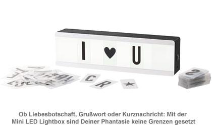 Mini LED Lightbox mit Buchstaben - Leuchtschild - 2