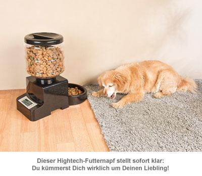 Futterautomat für Katzen und Hunde - mit Zeitschaltuhr - 4