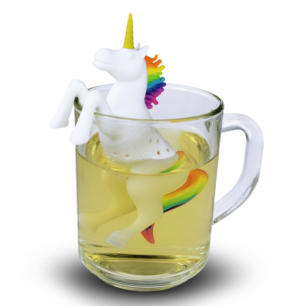 einhorn tee ei silikon teesieb unicorn tea infuser teekugel. Black Bedroom Furniture Sets. Home Design Ideas