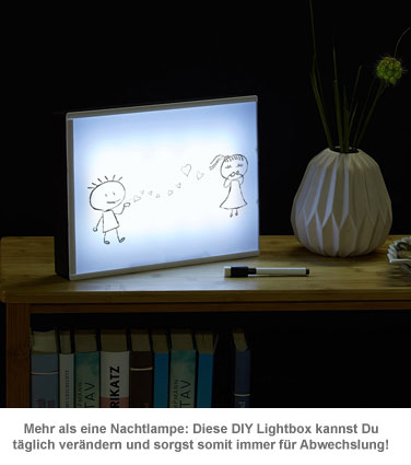 leuchtkasten zum zeichnen led lightbox diy mit stift folie. Black Bedroom Furniture Sets. Home Design Ideas
