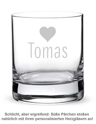 Personalisierte Tumbler Gläser Herz - 2er Set - 2