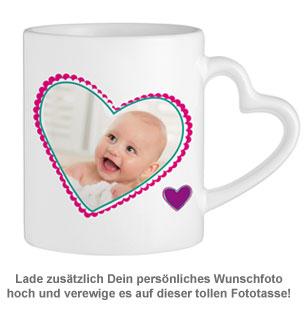 Fototasse mit Herzhenkel - Mama ist die Beste - 3