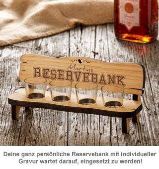 Personalisierte Vierer Schnapsbank - Reservebank - 2