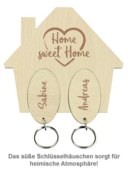Schlüsselbrett mit Gravur - Sweet Home - 2