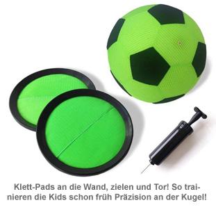 Torwandschießen für Kinder - Indoor Klett Fußball Set - 3