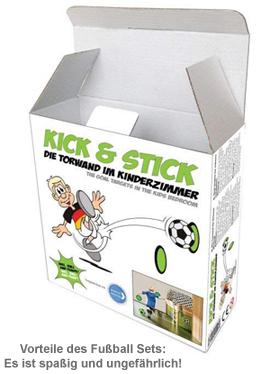 Torwandschießen für Kinder - Indoor Klett Fußball Set - 4