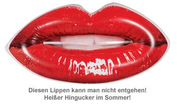 Aufblasbare Luftmatratze - Lippen - 2