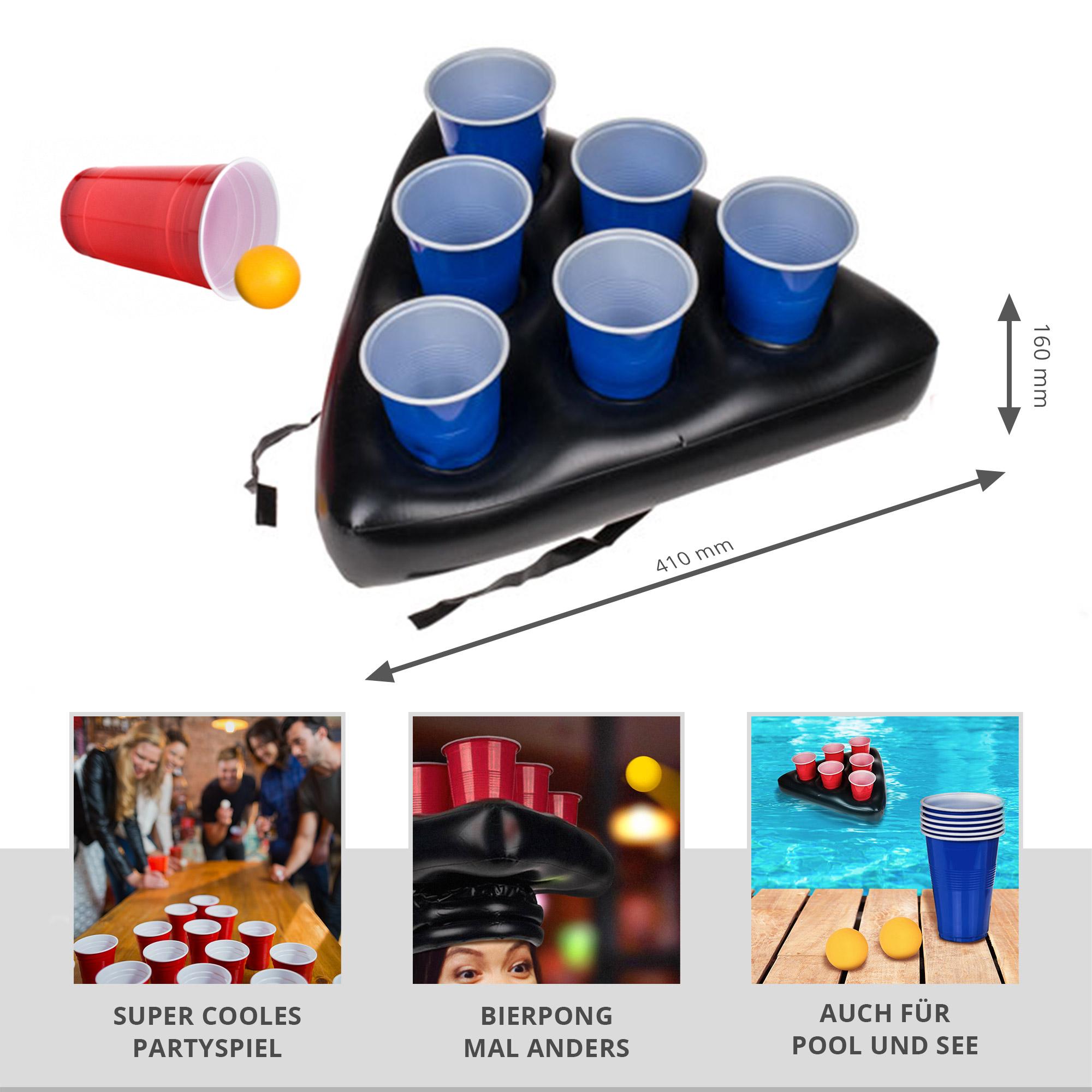 Aufblasbarer Bierpong Hut - Mini Beer Pong Set - 2