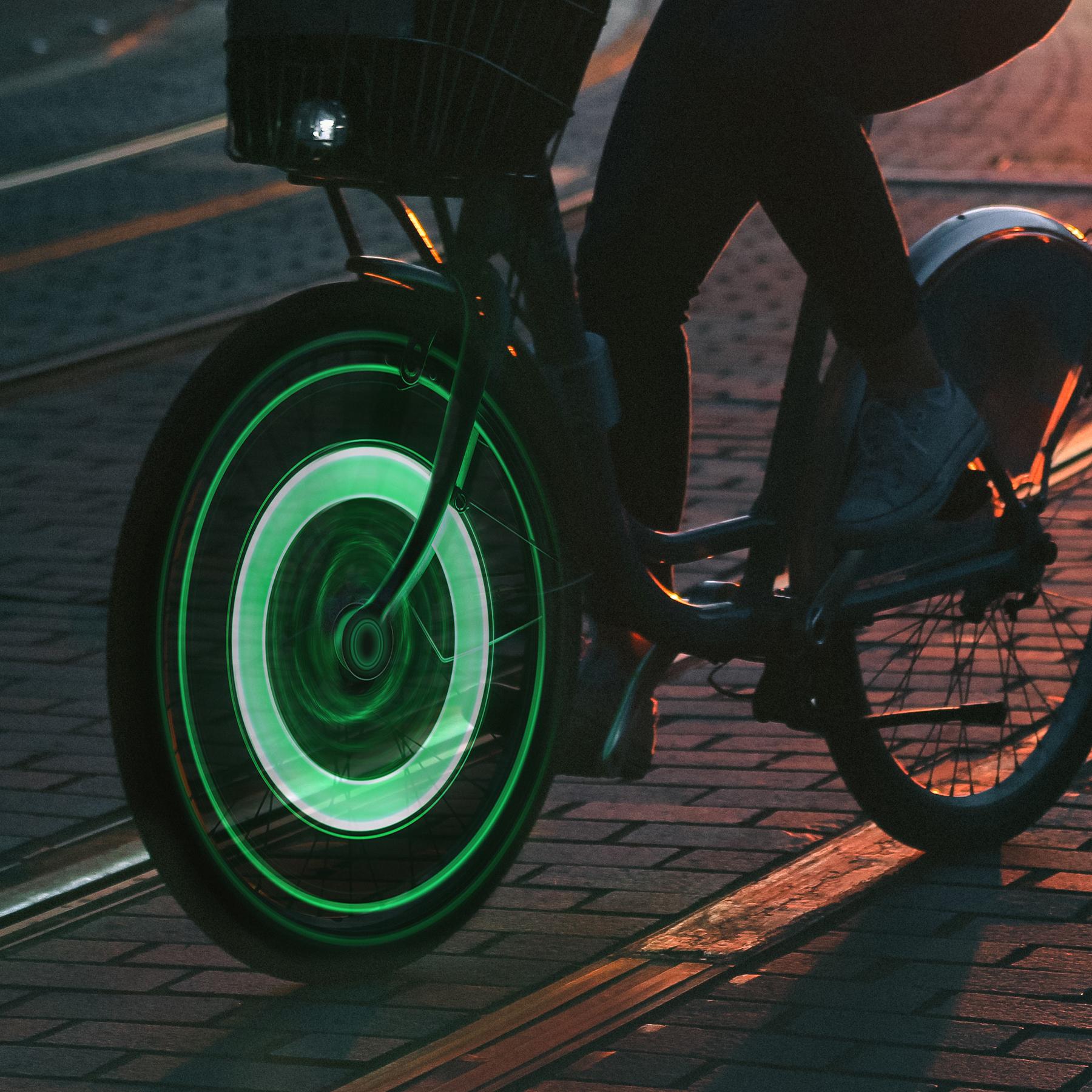 Fahrradbeleuchtung LED Speichenlicht 2er Set Fahrradlicht