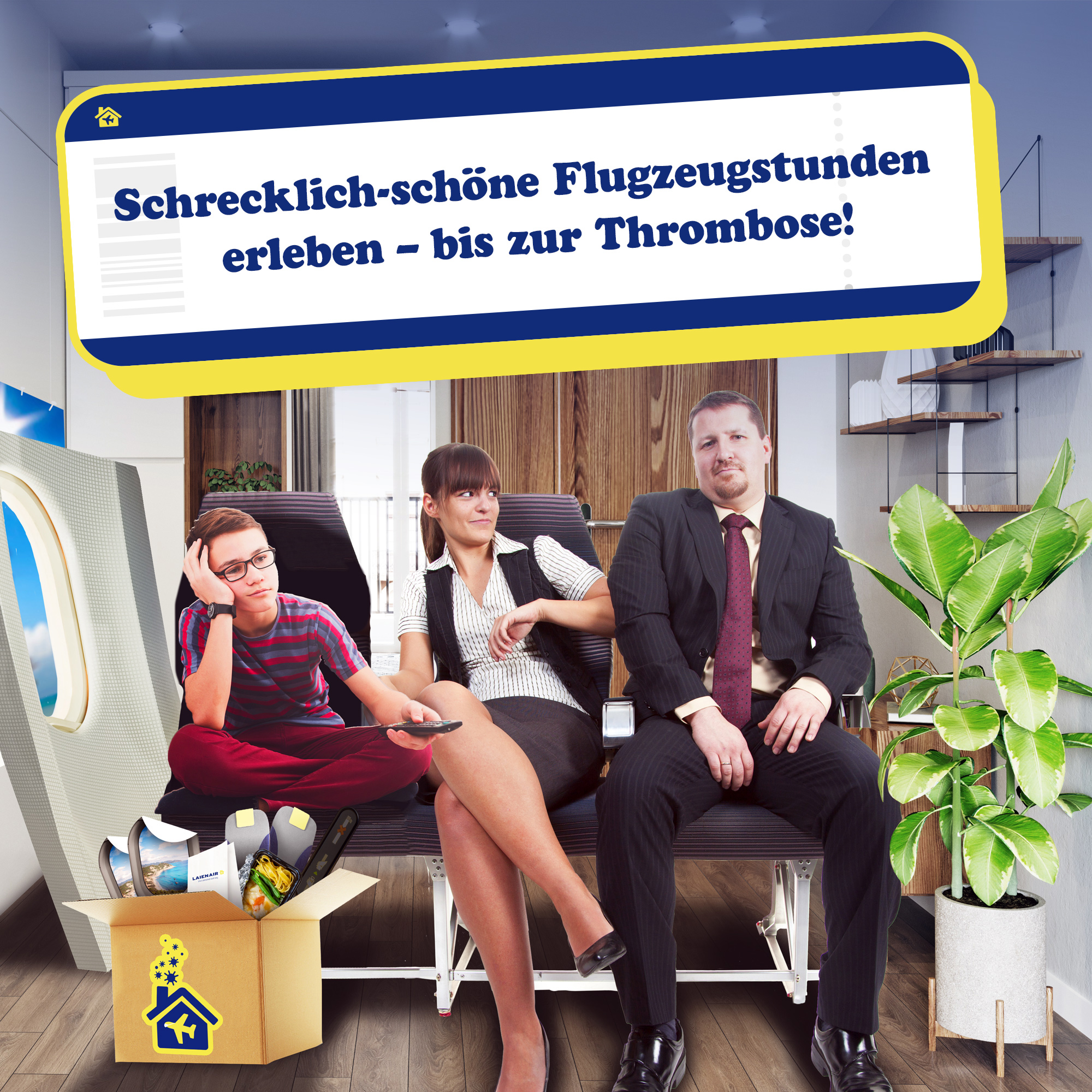 Flug-Reisetag für Zuhause