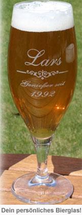 Bierglas mit Gravur - 2