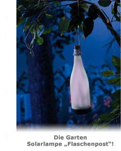 Garten Solarlampe Flaschenpost - 2