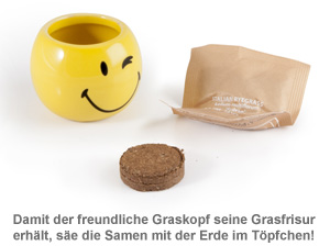 Graskopf mit Smiley Gesicht - 2