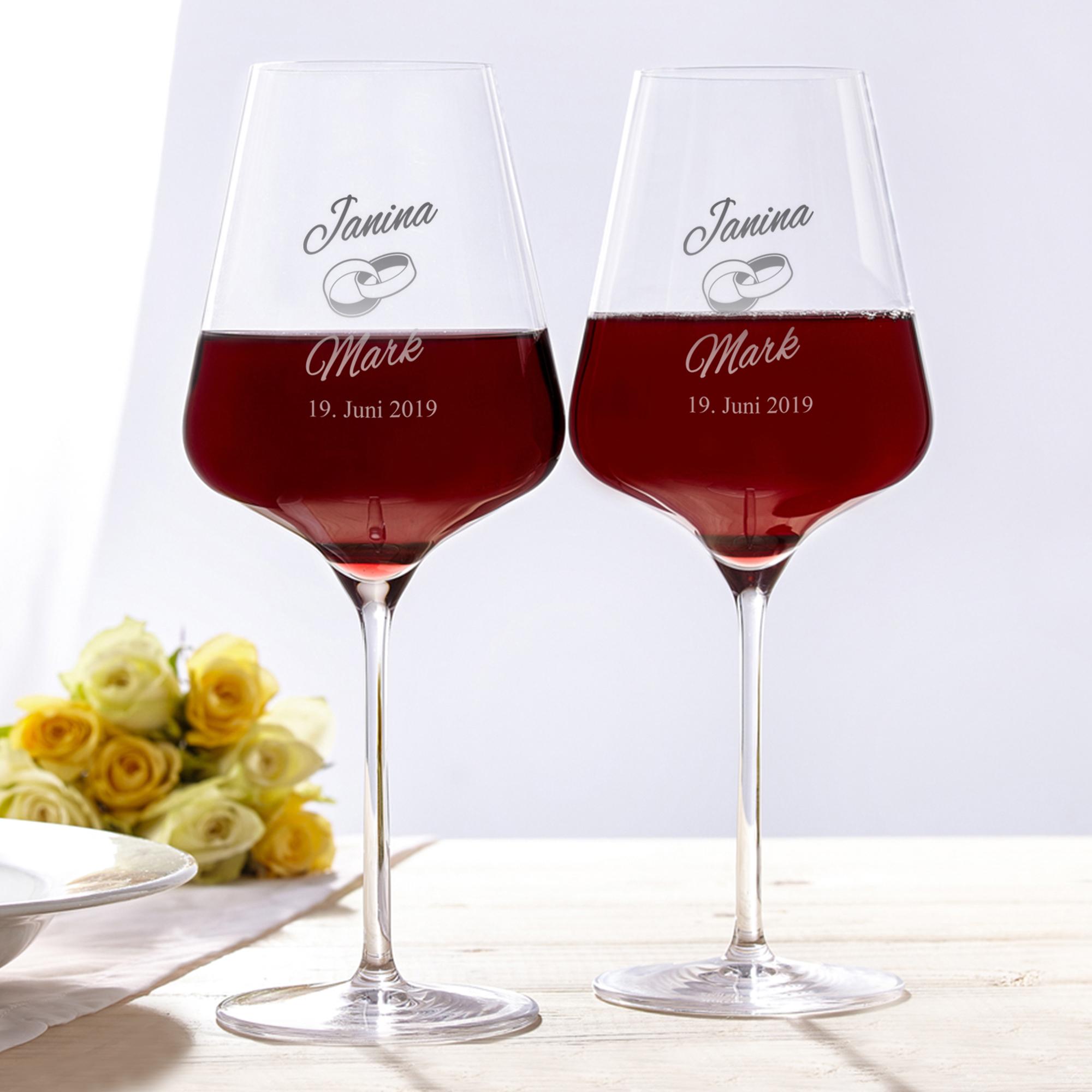 Weingläser Zur Hochzeit Personalisierte Gläser Für Brautpaare