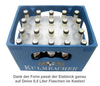 Bierkühler - Eisblockform für Bierkisten - 0,5 l Flaschen - 2