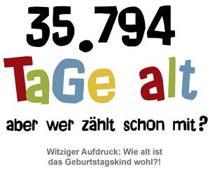 Geburtstagstasse - Alter in Tagen - 2