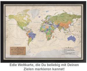 Reise-Weltkarte Deluxe - 2