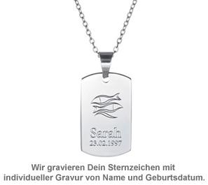 Army Dog Tag Kette mit Gravur - Sternzeichen - 2