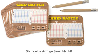 Bierdeckel Spiele - Grid Battle - 2
