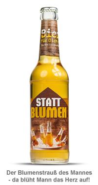 Bierflasche 0,33 l - Bier statt Blumen - 2