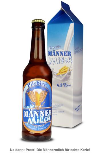 Bierflasche 0,33 l - Männermilch - 2