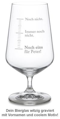 Bierglas mit Gravur - Noch eins - 2