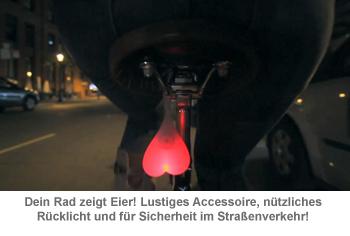 Bike Balls - Fahrradbeleuchtung mit Eiern - 2