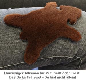 Dickes Fell - Glücksbringer in Geschenkbox braun - 2
