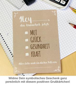 Dickes Fell - Glücksbringer in Geschenkbox braun - 3