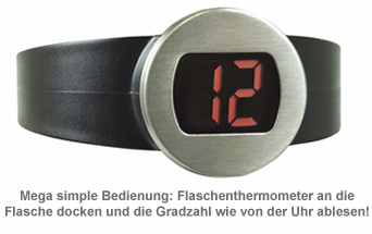 Digitales Flaschenthermometer - 2
