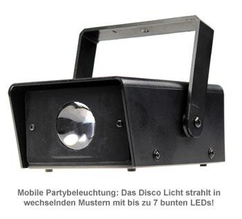 Disco Licht mit 7 LEDs - 2