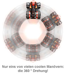 Ferngesteuertes Stunt-Auto mit LED Beleuchtung - 3