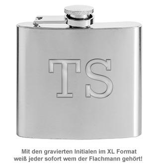 Flachmann mit Gravur - mit XL Initialen - 2