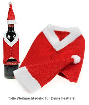 Flaschenanzug Weihnachtsmann - 2er Set - 2