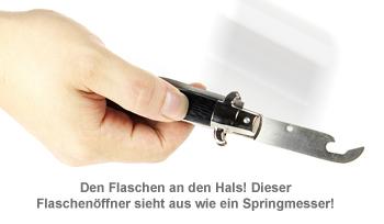 Flaschenöffner - Springmesser - 2