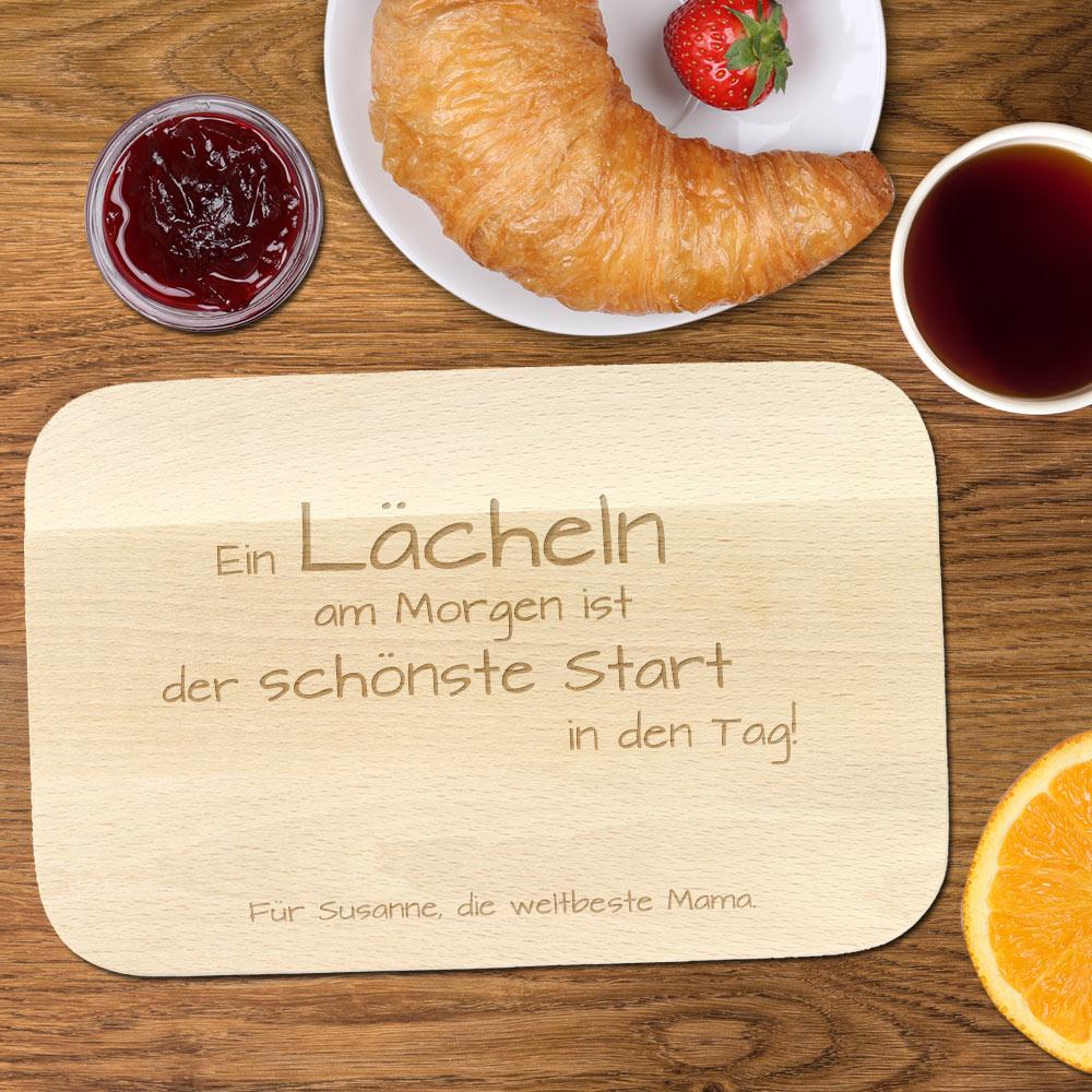 Frühstücksbrettchen mit Gravur - Spruch Mama - schönes