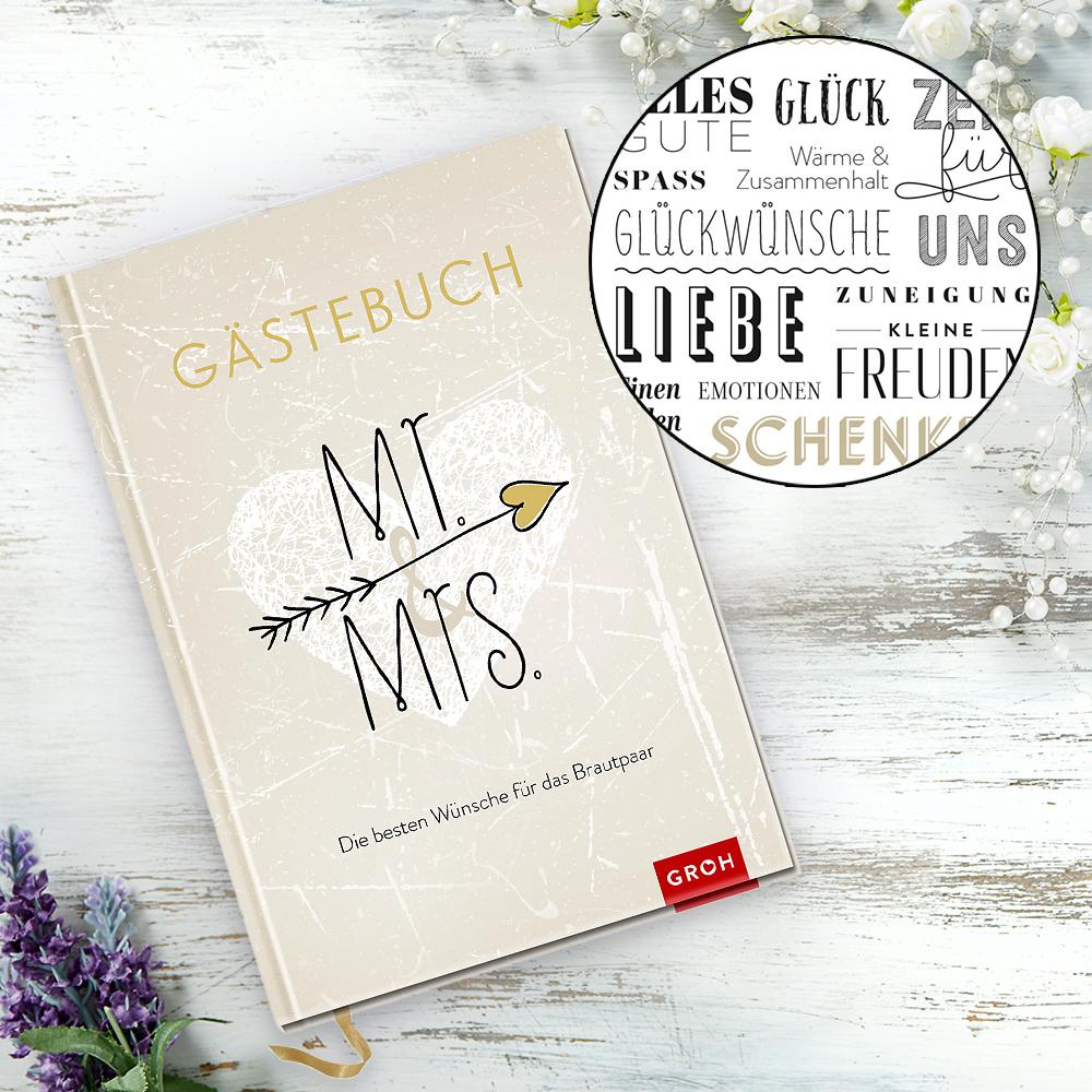 gästebuch hochzeit mr & mrs