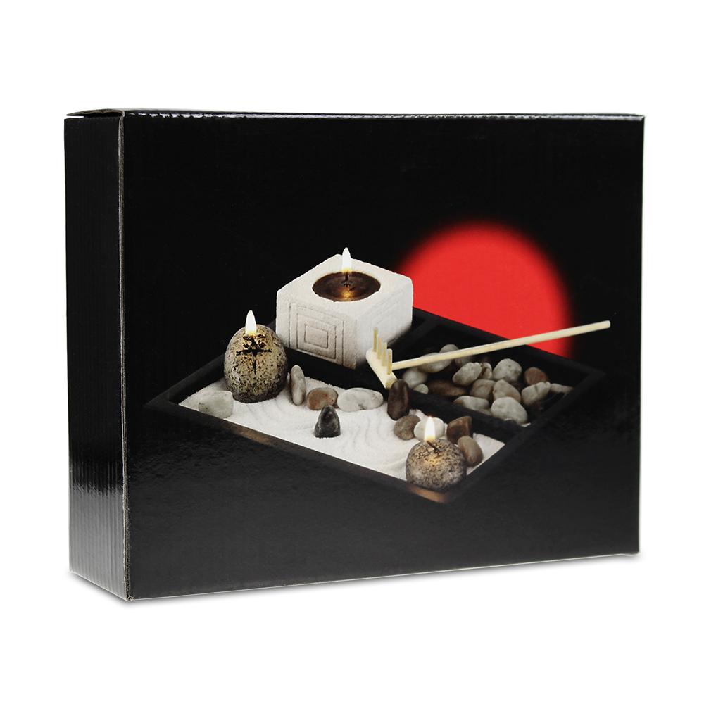 coffret cadeau jardin zen et m lange de th. Black Bedroom Furniture Sets. Home Design Ideas
