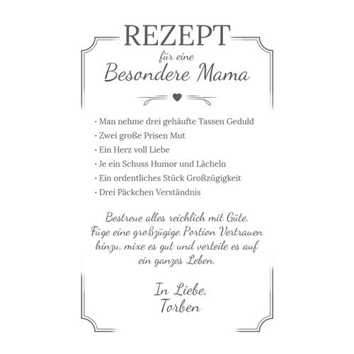 Graviertes Frühstücksbrettchen - Mama Rezept - 4