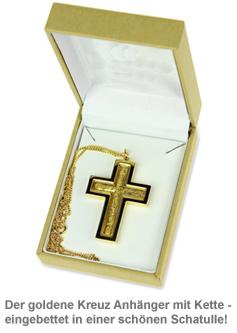 Halskette Kreuz mit 23 Karat Gold - 3