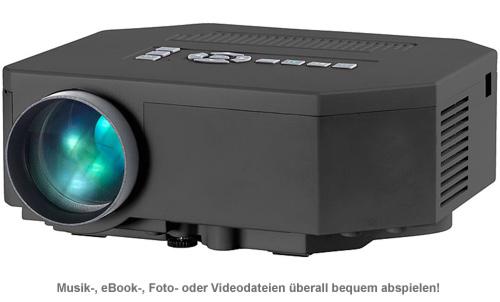 HD Mini LED Beamer mit Media-Player - 2