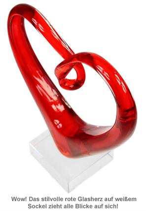 Herz aus Glas mit Gravur - 2