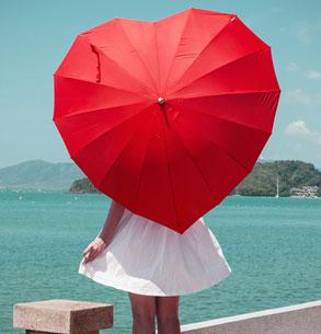 Herz Regenschirm - 3