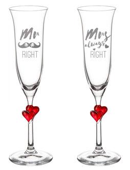 Herzen Sektgläser - Mr and Mrs Right - 4