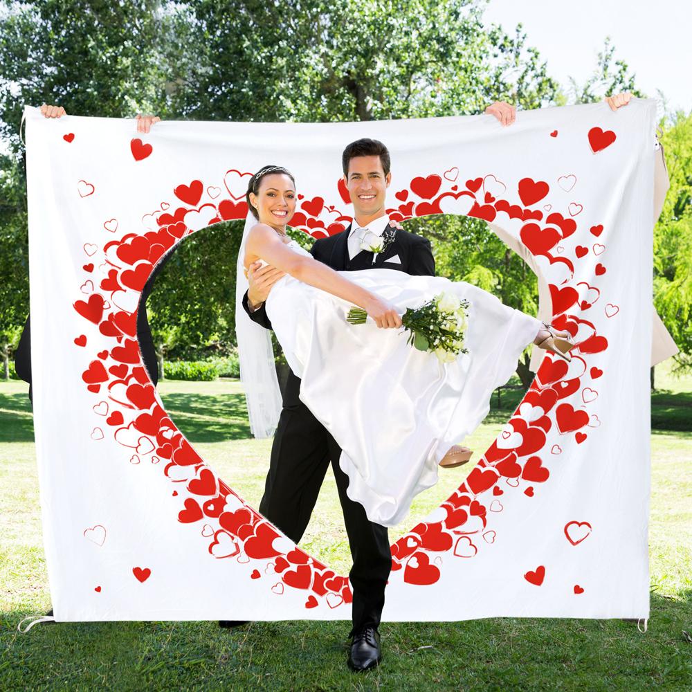 Hochzeitslaken Herzmotiv - Tradition zum Ausschneiden