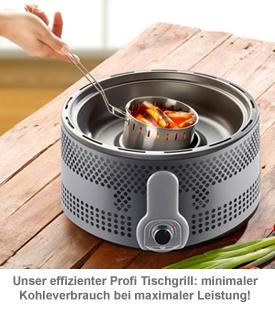 Holzkohle Tischgrill - Profi Version - 2