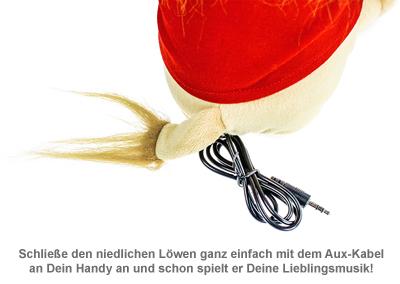 Kuscheltier Löwe - animiert mit Lautsprecher - 2